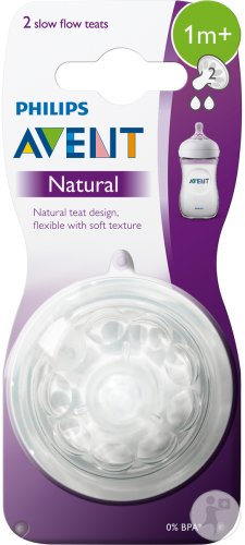 Philips Avent Natural tétine slow - SCF042/27 (1m+) - 2x