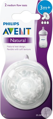 Philips Avent Natural tétine medium - SCF043/27 (3m+) - 2x