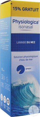 Physiologica Isonasal Lavage Du Nez Spray 100ml Promo 15% Gratuit