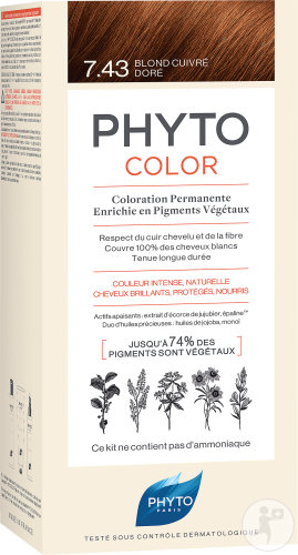 Phyto Phytocolor Collection Coloration Permanente Edition Limitée 7.43 Blond Cuivré Doré 1 Set