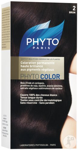 Phyto Phytocolor Coloration Permanente 2 Brun Tous Cheveux 1 Kit