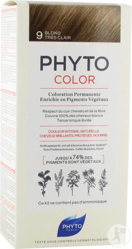 Phyto Phytocolor Coloration Permanente 9 Blond Très Clair 1 Kit