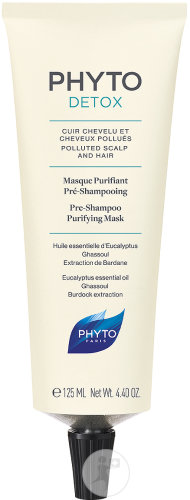 Phyto Phytodetox Masque Purifiant Pré-Shampoing Cuir Chevelu Et Cheveux Pollués Tube 125ml