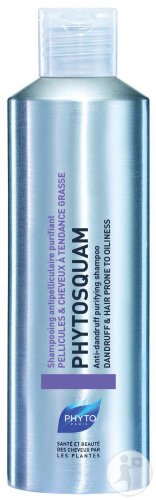 Phyto Phytosquam Shampoing Antipelliculaire Purifiant Pellicules Et Cheveux À Tendance Grasse 200ml