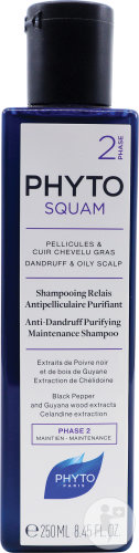 Phyto Phytosquam Shampoing Relais Antipelliculaire Purifiant Flacon 250ml