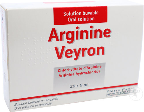 Pierre Fabre Medicament Arginine Veyron Chlorhydrate D'Arginine Solution Buvable Ampoules 20x5ml