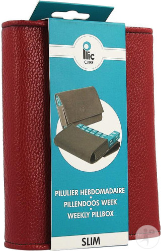 Plic Care Pilulier Slim Bordeau