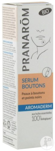 Pranarôm Aromaderm Sérum Boutons Soin Local Peaux Grasses Bio Flacon 5ml