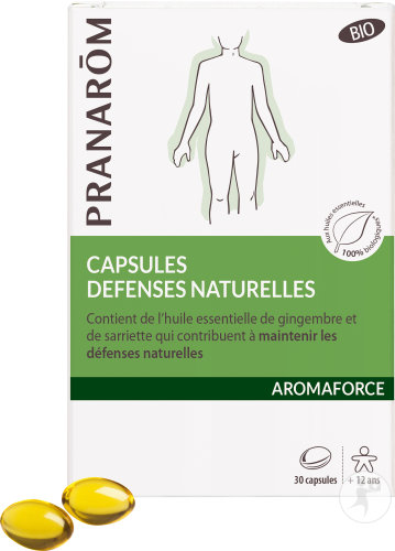 Pranarôm Aromaforce Défenses Naturelles Bio 30 Capsules