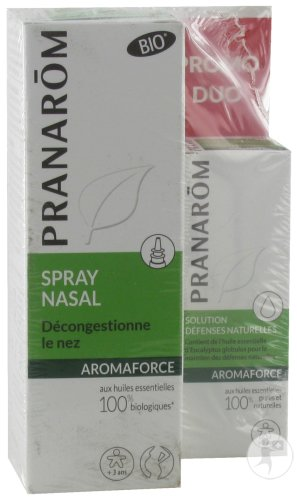 Pranarôm Aromaforce Duo Spray Nasal 15ml + Solution Défenses Naturelles Mini Bio 5ml