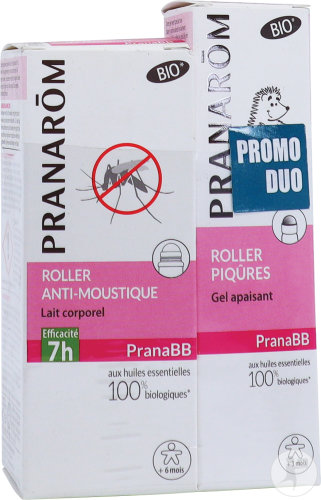 Pranarôm PranaBB Duo Roller Anti-Moustique 30ml + Roller Piqûres 15ml