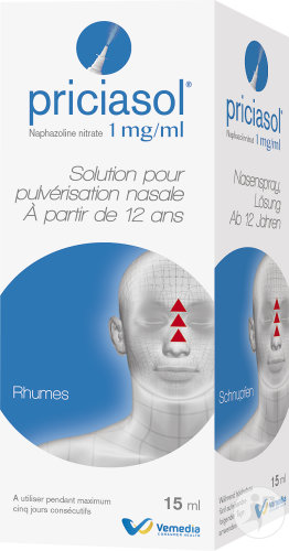 Priciasol 1mg/ml Solution Pour Pulvérisation Nasale Rhumes 15ml