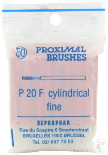 Proximal Brossette Cylindrique Fine Red 50 Pièces