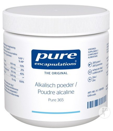 Pure Encapsulations Poudre Alcaline Pure 365 Pot 200g