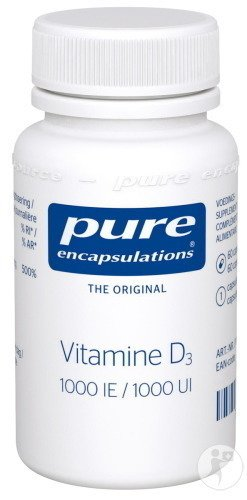 Pure Encapsulations Vitamine D3 1000UI 60 Capsules