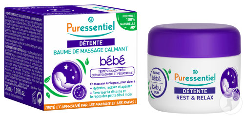 Puressentiel Détente Baume De Massage Calmant Bébé Pot 30ml