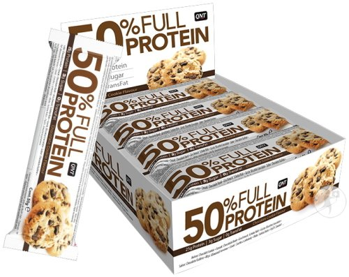QNT 50% Full Protein Bar Chocolat Cookie 12x50g