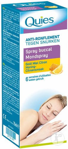Quies Spray Buccal Anti-Ronflement Miel-Citron 70ml