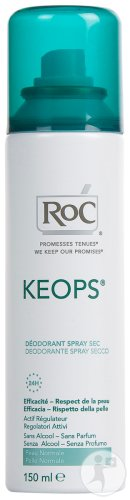 RoC Keops Déodorant Spray Sec Sans Alcool Duopack 2x150ml Promo