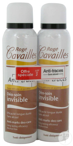 Rogé Cavaillès Déodorant Absorb+ Invisible Anti-Transpiration Et Anti-Odeurs Duo 2x150ml Promo