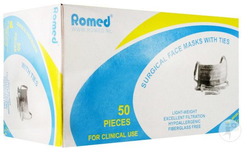 Romed Masque Chirurgical 3pl N/tis. S/latex 50