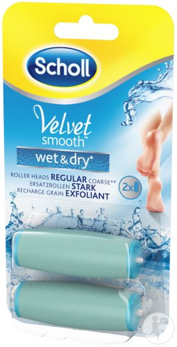 Scholl Velvet Smooth Wet And Dry Recharge Grain Exfoliant 2 Pièces