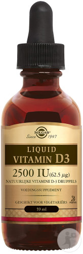 Solgar Liquid Vitamin D3 2500IU Gouttes Flacon 59ml