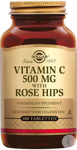 Solgar Vitamin C With Rose Hips 500mg Comprimés 100