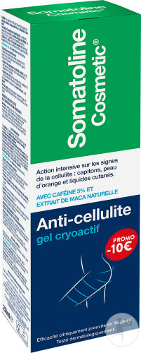 Somatoline Cosmetic Anti-Cellulite Gel Cryoactif 15 Jours Tube 250ml Promo -10€