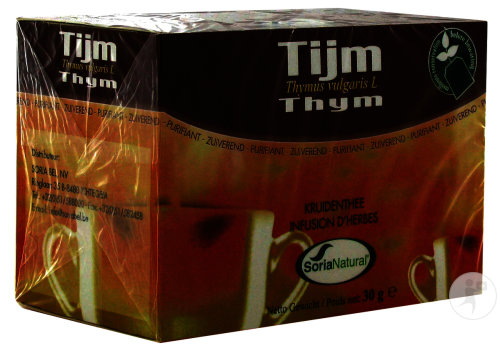 Soria Natural Infusion D'Herbes Thym 20 Sachets