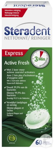 Steradent Active Fresh 3 Minutes 60T