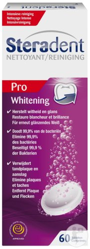 Steradent Whitening Nettoyant 60 Comprimés