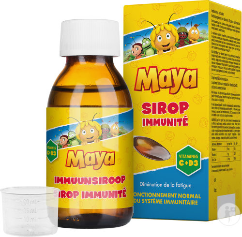 Studio 100 Maya Sirop Immunité Vitamines C + D3 Flacon 120ml
