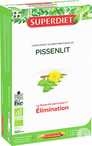 Super Diet Pissenlit Bio Ampoules 20x15ml