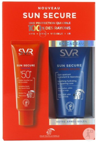 SVR Duopack Sun Secure Fluide IP50+ Tube 50ml + Après-Soleil Tube 50ml