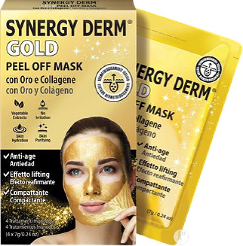 Synergy Derm Gold Peel Off Mask 4 Pièces
