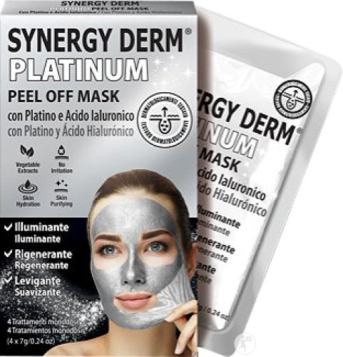 Synergy Derm Platinum Peel Off Mask 4 Pièces
