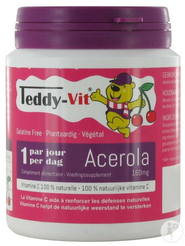 Teddy Vit Acérola 160mg Gomme Ours 50