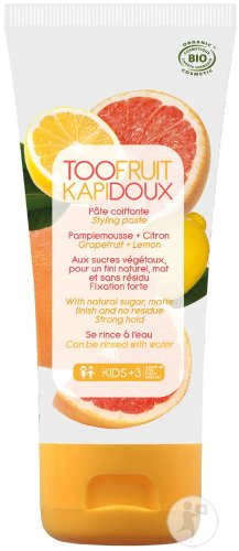 Too Fruit Kapidoux Pâte Coiffante Pamplemousse Et Citron Enfants Tube 100g