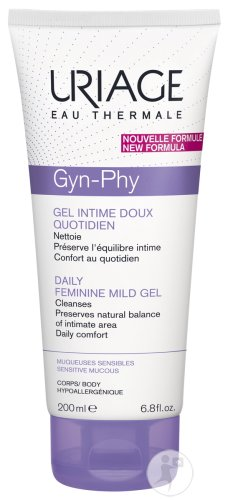 Uriage Gyn-Phy Gel Intime Doux Quotidien Muqueuses Sensibles Tube 200ml