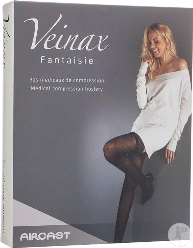 Veinax Fantaisie Collant Grands Losanges Classe 2 Long Noir Taille 2 Paire 1