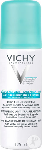 Vichy Déodorant Anti-Transpirant 48h Anti-Traces Blanches Et Jaunes Spray 125ml