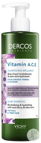 Vichy Dercos Nutrients Shampoing Vitaminé Cheveux Ternes 250ml