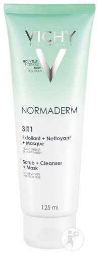 Vichy Normaderm 3 En 1 Exfoliant-Nettoyant-Masque Tube 125ml