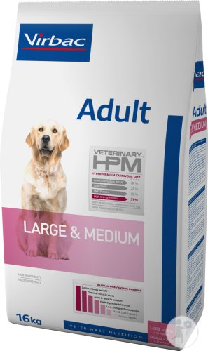 Virbac Adult Dog Large & Medium 16kg