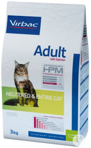 Virbac Adult Neutered & Entire Cat Salmon 7kg