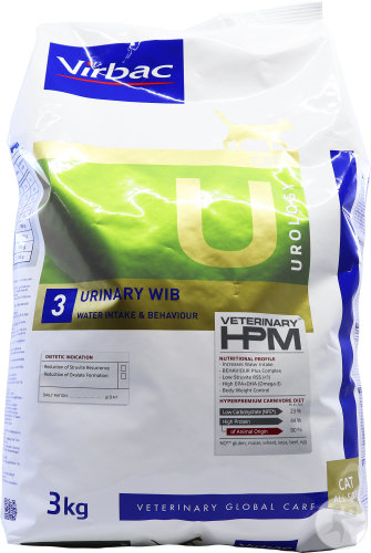 Virbac Veterinary HPM Chat U3 Urology Urinary Wib 3kg