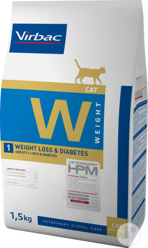 Virbac Veterinary HPM Chat W1 Weight Loss & Diabetes 1,5kg