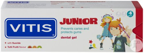 Vitis Junior Gel-Dentifrice Tutti Frutti Tube 75ml