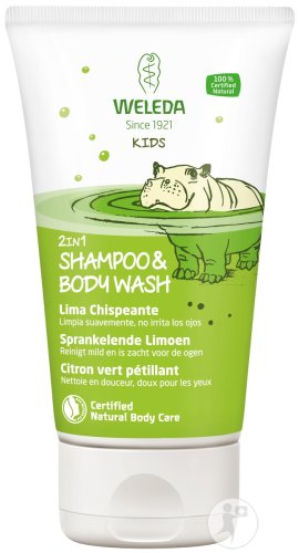Weleda Kids 2en1 Shampoing & Body Wash Citron Vert Pétillant Tube 150ml
